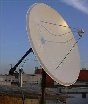 Esta es mi antena de 180cm para la banda C